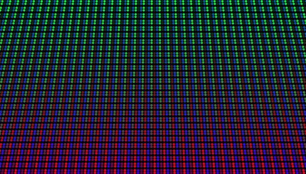 Visualización de pantalla led. textura digital con puntos. monitor de píxeles lcd. ilustración vectorial.