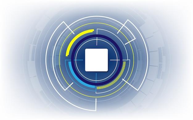 Visualización de la tecnología de automatización de vectores, fondo de comunicación abstracta.