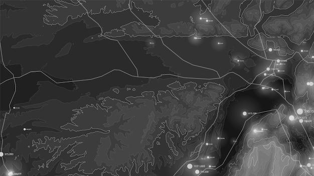 Visualización de terreno de big data.
