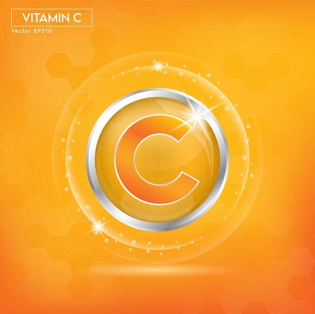 Vitamina c para la belleza de la piel anuncios promocionales cosméticos.