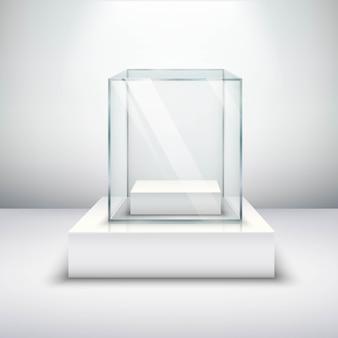 Vitrina de cristal vacía