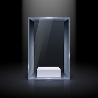 Vitrina de cristal