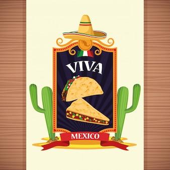 Viva mexico dibujos animados de fondo