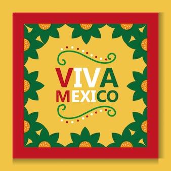 Viva mexico poster marco flor decoracion