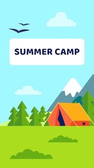 Volante de campamento de verano
