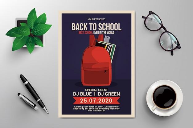 Volante de regreso a la escuela