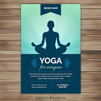 Volante silueta de la yoga