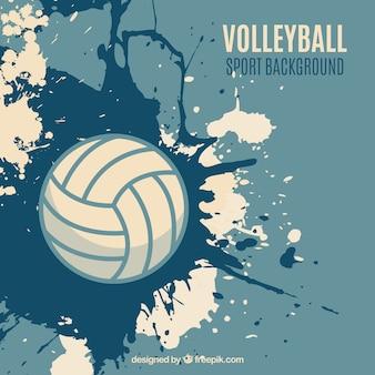Voleibol de la salpicadura de fondo