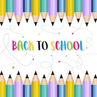 Volver al fondo de la escuela con lápices de colores