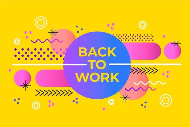 Volver al trabajo - fondo de memphis