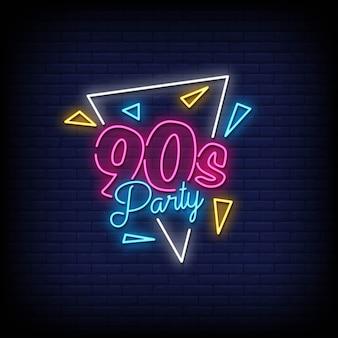 Volver al vector de estilo de letreros de neón de los 90