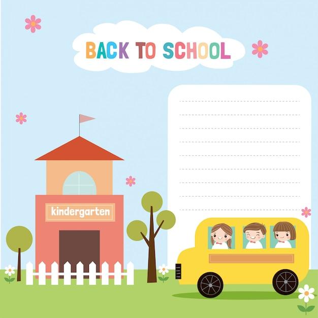 Volver a la escuela ilustración de fondo