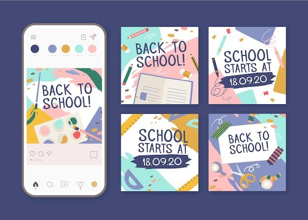 Volver a la escuela instagram posts