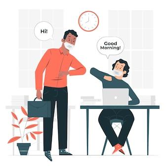 Volver a la ilustración del concepto de trabajo