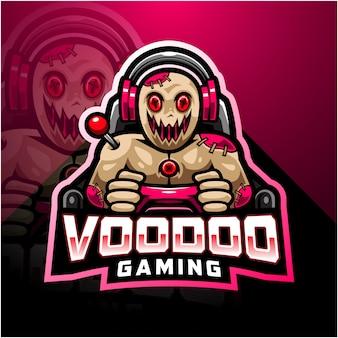 Voodoo gaming esport mascota logo