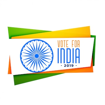 Vota bandera india en tri color