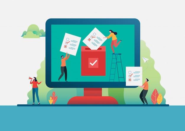 Votación en línea.
