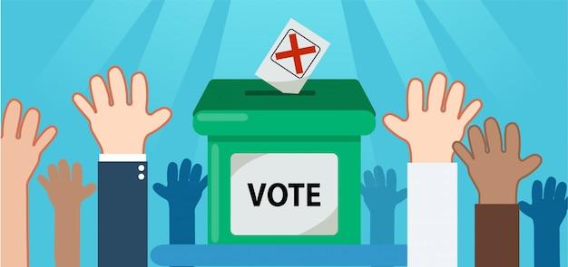 Votar por el conjunto electo