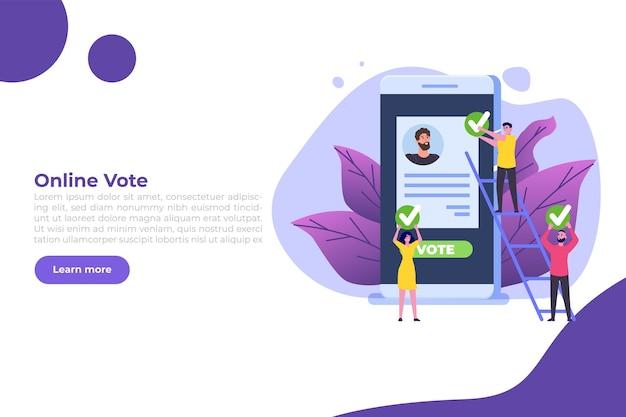 Votar en línea; voto electrónico; plantilla de sistema de internet electoral.