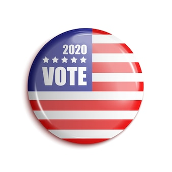 Vote bage usa 2020. sobre transparente.