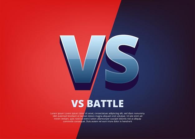 Vs versus diseño cómico. logotipo vs con espacio para texto