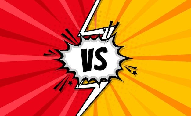 Vs. versus letras. batalla, partido, juego