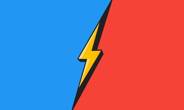 Vs. versus pantalla. el concepto de batalla, competencia, duelo o comparación. ilustración vectorial.