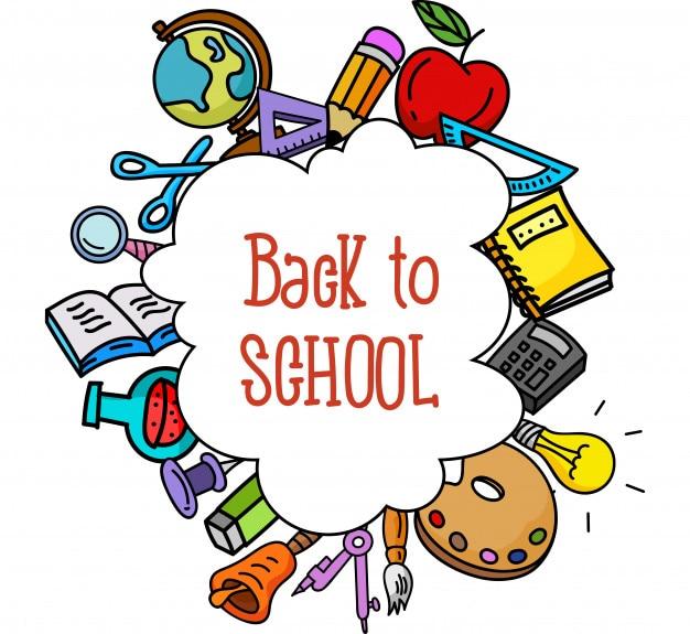 De vuelta a la escuela. artículos escolares
