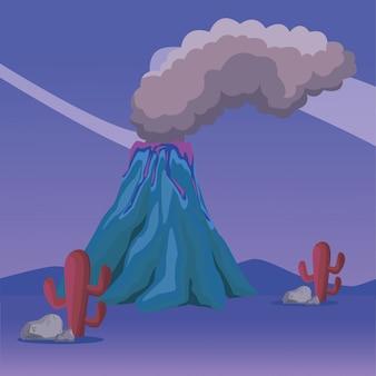 Vulcano en la naturaleza