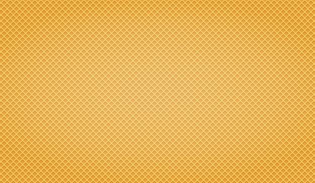 Waffle amarillo. patrón de oblea de textura.