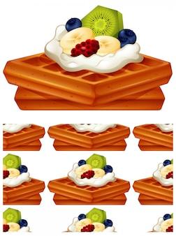 Waffle de patrones sin fisuras aislado en blanco