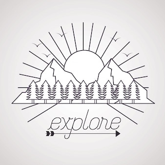 Wanderlust explora el paisaje de aventura