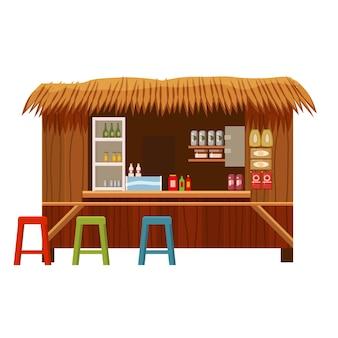 Warung street cafe restaurant pequeño negocio familiar tienda tienda