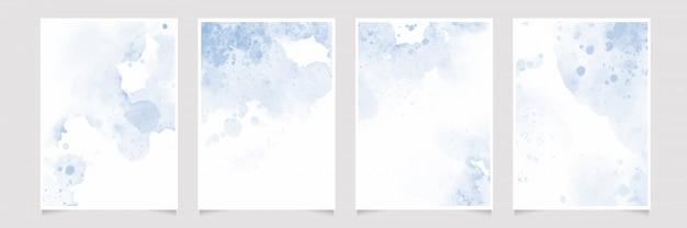 Wash splash 5x7 colección de plantillas de fondo de tarjeta de invitación