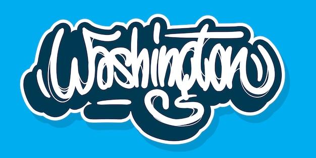 Washington district of columbia usa diseño de letras dibujadas a mano