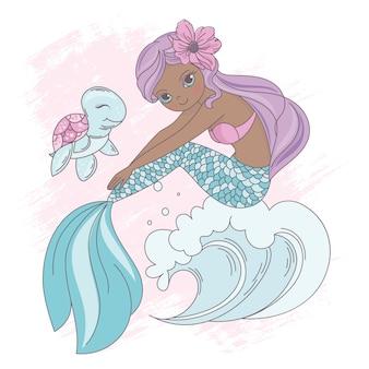Wave mermaid underwater princess walk