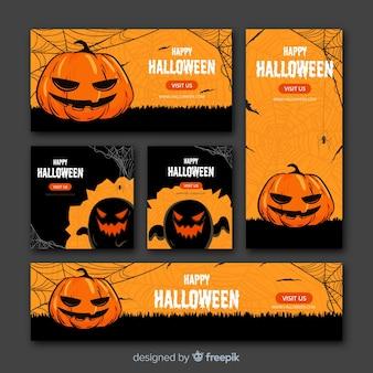 Web de banner de halloween