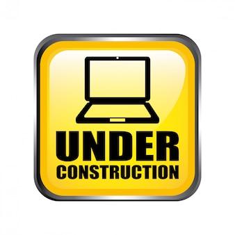 Web en concepto de construcción