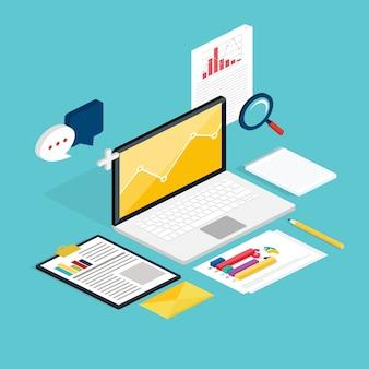 Web de proceso analítico con claptop y desarrollo de estadísticas web.