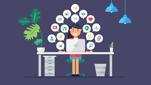 Web virtual redes sociales