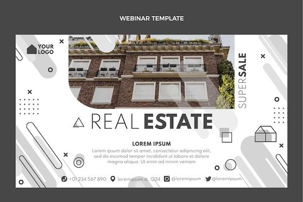 Webinar inmobiliario geométrico de diseño plano