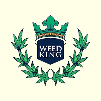Weed king logo ilustraciones