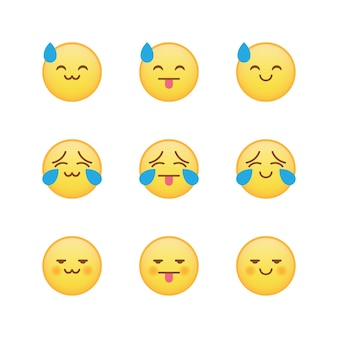 Weird combination emoji emoticon set
