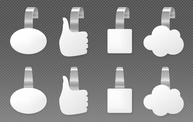 Wobblers publicitarios, conjunto de maquetas de burbujas de discurso