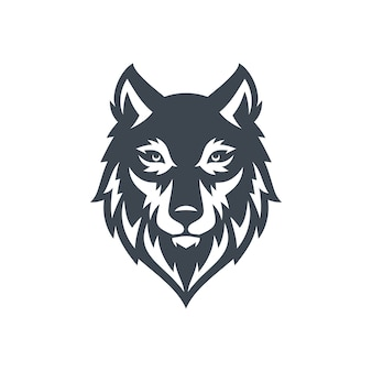 Wolf logo stock vector