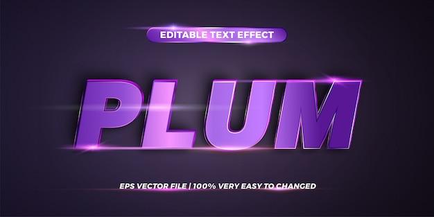 Word plum - estilo de efecto de texto editable