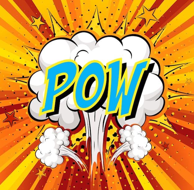 Word pow en la nube de cómics