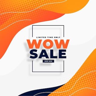 Wow sale moden banner para promoción en redes sociales.