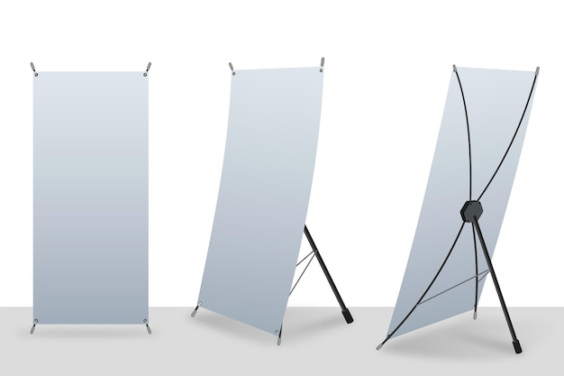 X stand roll up pancartas