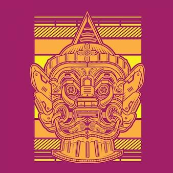 Yaksha el guardián mecha gigante
